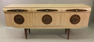 A retro wood grain formina veneered sideboard, mid 20th century,