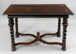 A Portuguese rosewood side table, late 17th century,