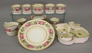 A Royal Worcester Royal Garden 21-piece tea service and a Coalport Strawberry set (24).