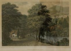 George Brannon, Bonchurch, Isle of Wight, hand coloured engraving, 17.