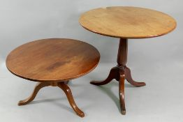 A George III style mahogany tea table, 19th century,
