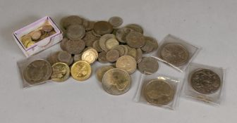 A collection of George V silver florins, others and sixpences, Dutch 10 cents coins,
