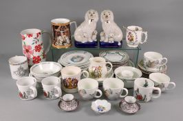 A Wedgwood Peter Rabbit 24-piece service, pair of Japanese reproduction 'Staffordshire poodles',