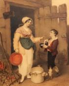 Follower of Richard Westall (British, 1765-1836), Now Milk From The Cow,