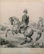 A print of General O'Brien on horseback,