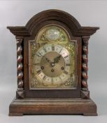 Junghans Wurttemberg; an early 20th century oak domed case bracket clock in late 17th century style,