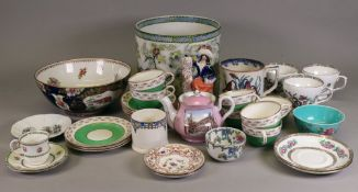 An Aynsley floral bordered green ground tea service, retailed by Thomas Goode & Co,