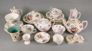 A Hammersley & Co floral breakfast service, retailed by Thomas Goode & Co,