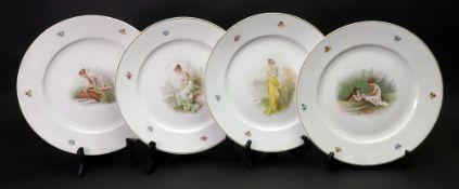 A set of four Bavarian plates, 20th century,