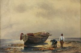 S. Setley, Topsham, watercolour, signed, 19.5 x 29.5cm, William Casley (fl.