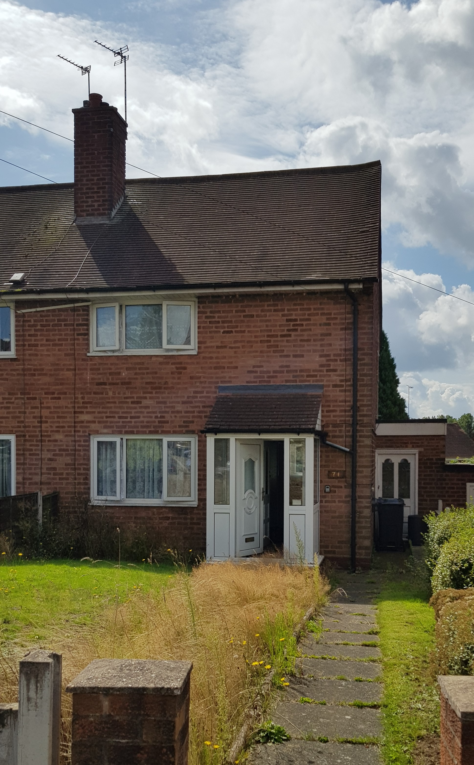 Lot 1 - 71 Booths Lane, Great Barr, Birmingham B42 2RG. A freehold two bedroom semi detached property with