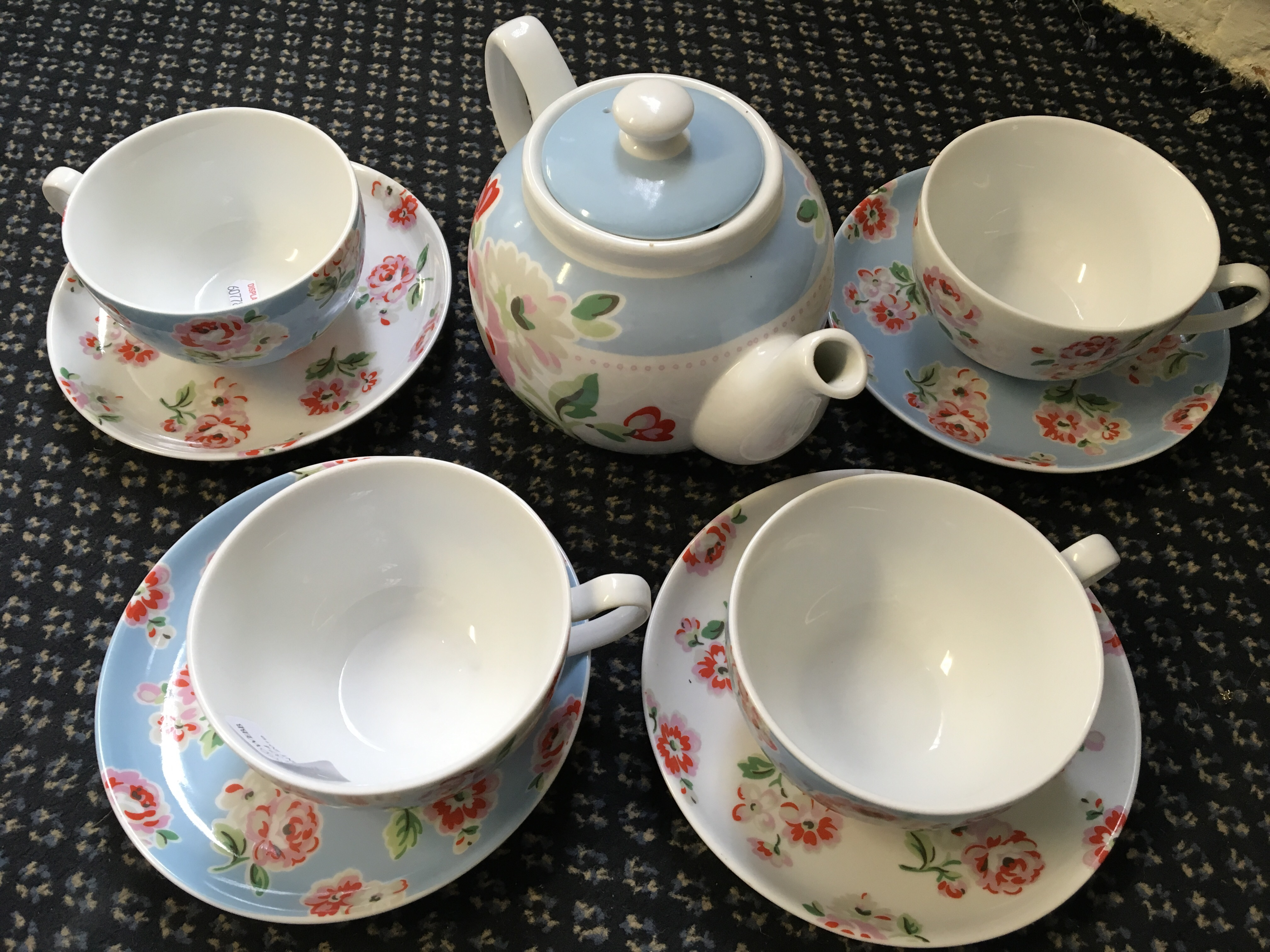 Lot 503 - A Cath Kidston tea set, 9 pieces in total.