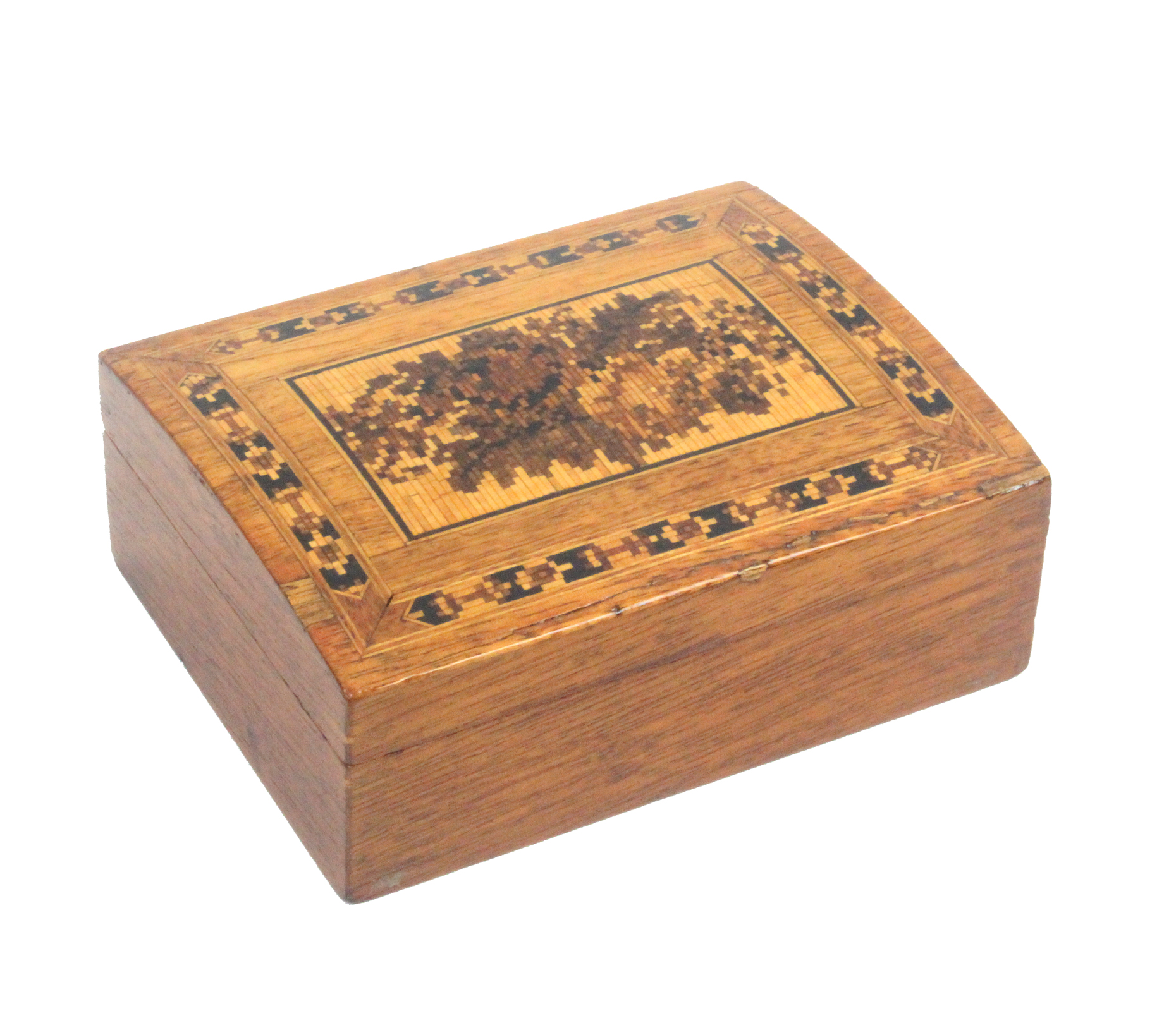 An early 20th Tunbridge ware box by, The Tunbridge Wells Manufacturing Co, Ltd, of rectangular form,