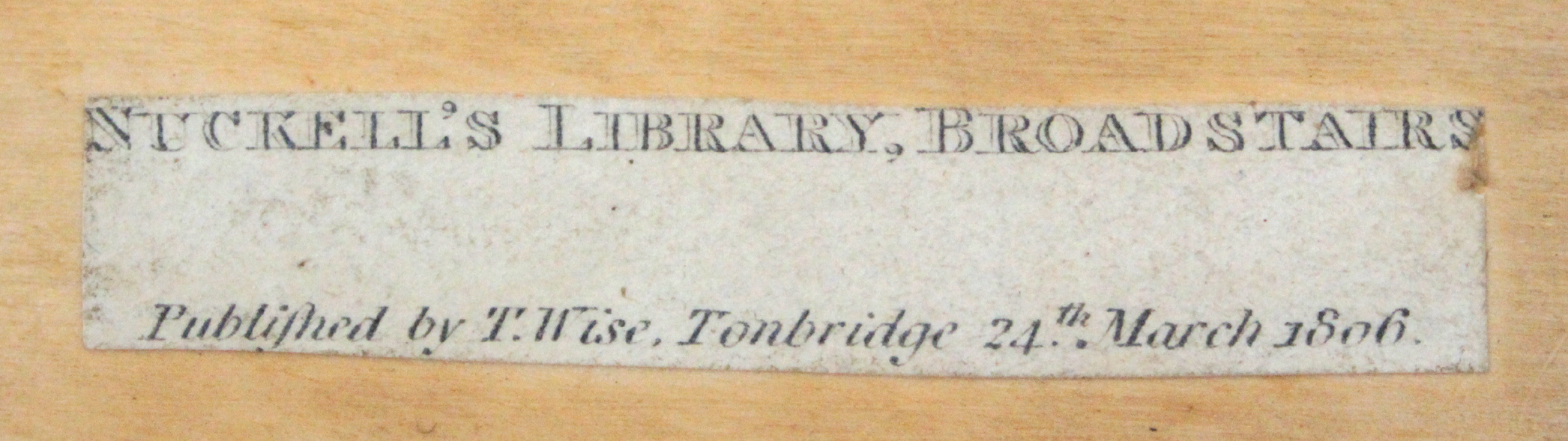 A rare and unusual print decorated early Tunbridge ware travelling mirror by Wise the rectangular - Image 3 of 3