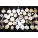 Lot 90 - Large collection of pocket & fob watches (Spares &