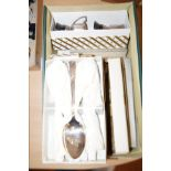 Lot 21 - Box of plated flatware to include trophy's