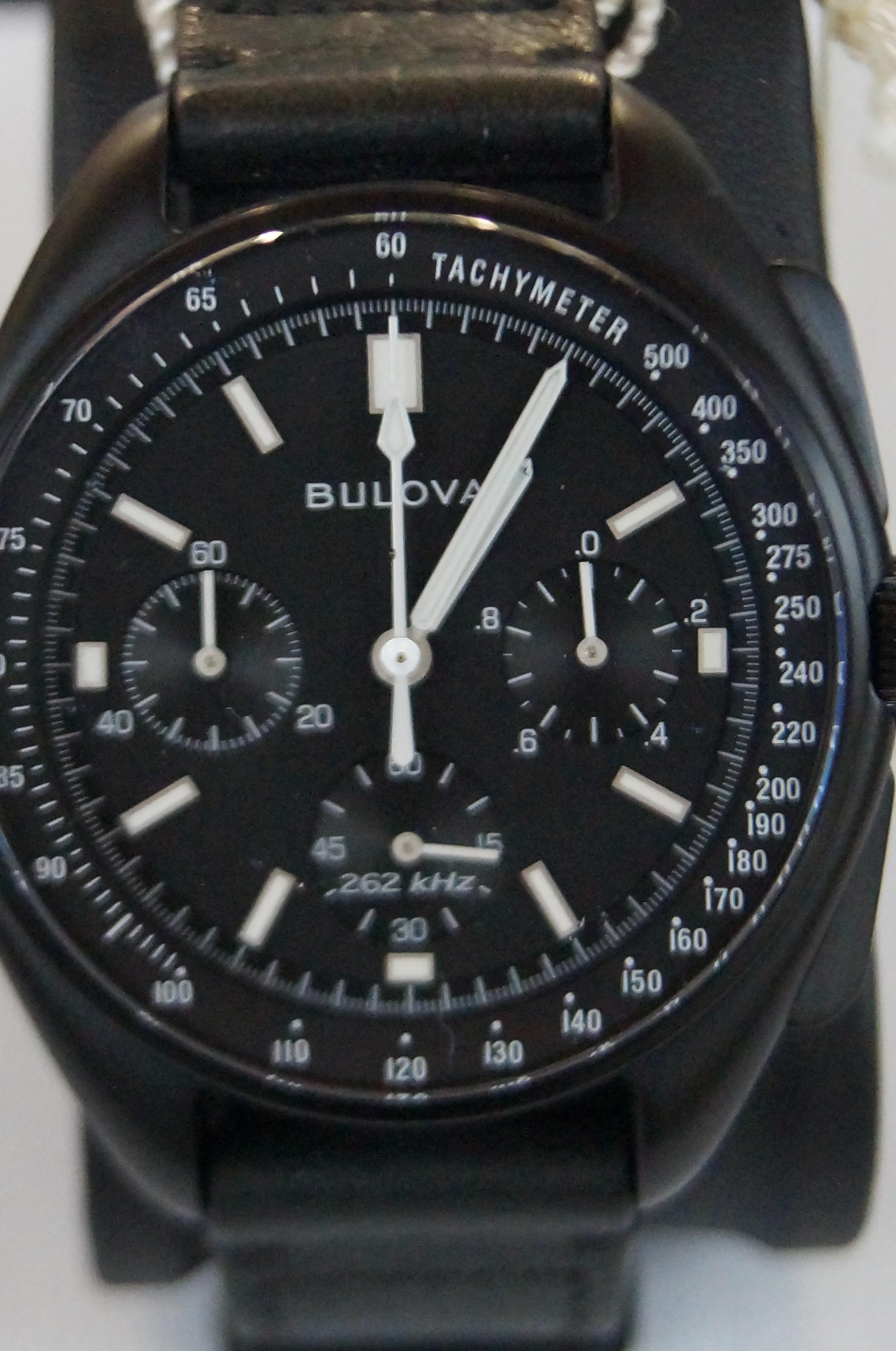 Lot 51 - Gents Bulova 3 sub dial apolo 15 wristwatch with b
