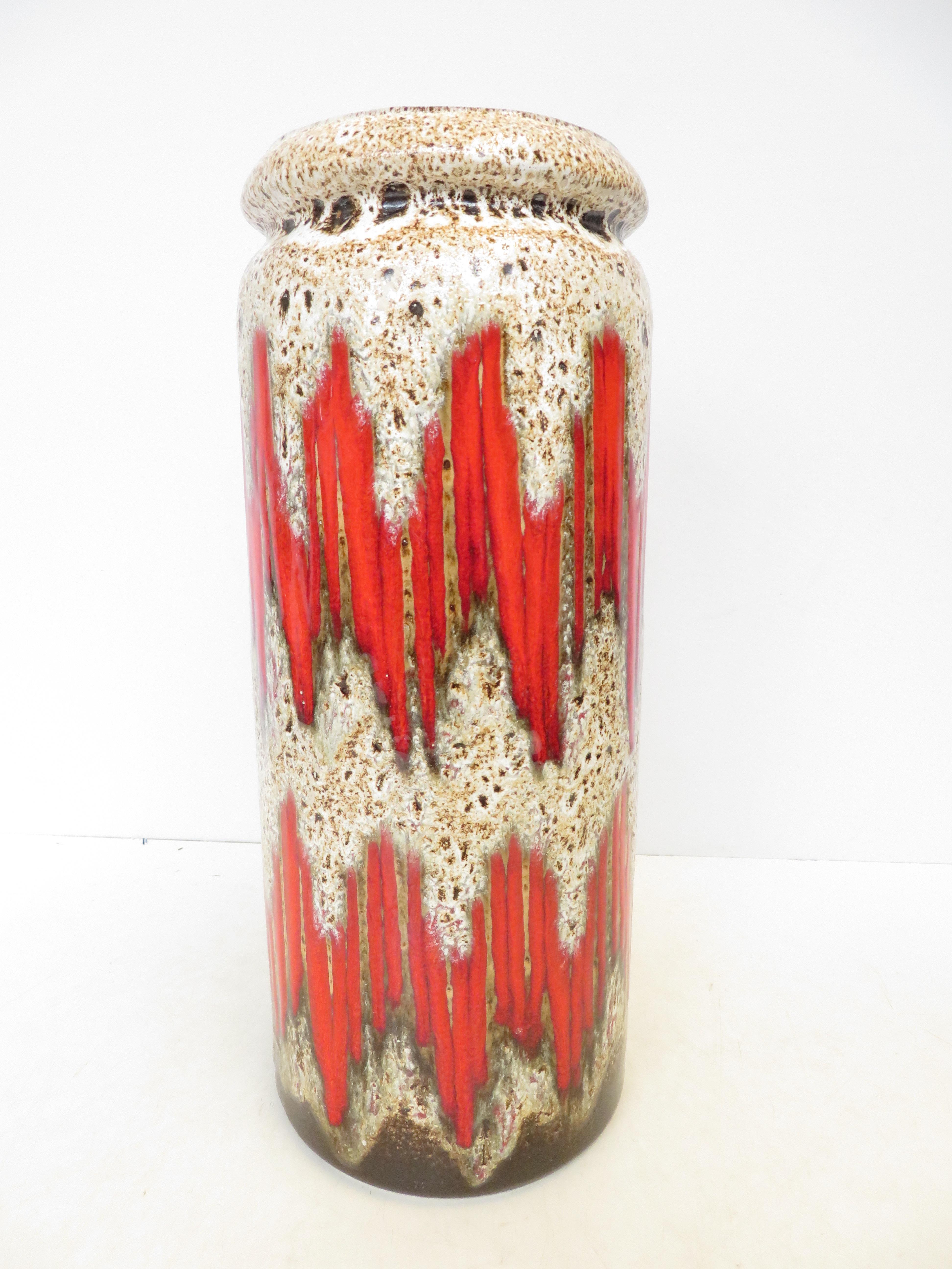 Lot 219 - Large west German vase Height 41 cm