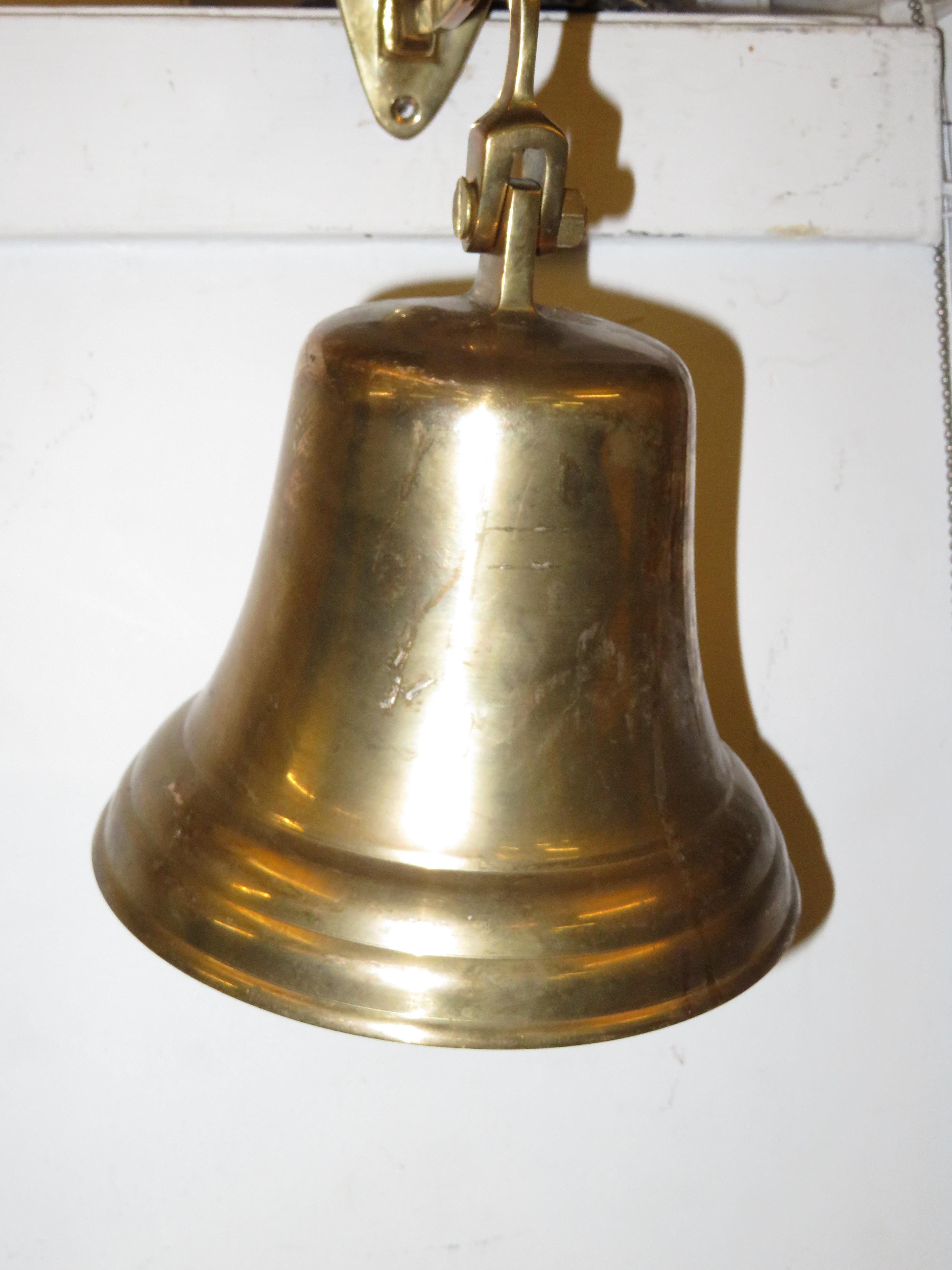 Lot 114 - Brass wall bell