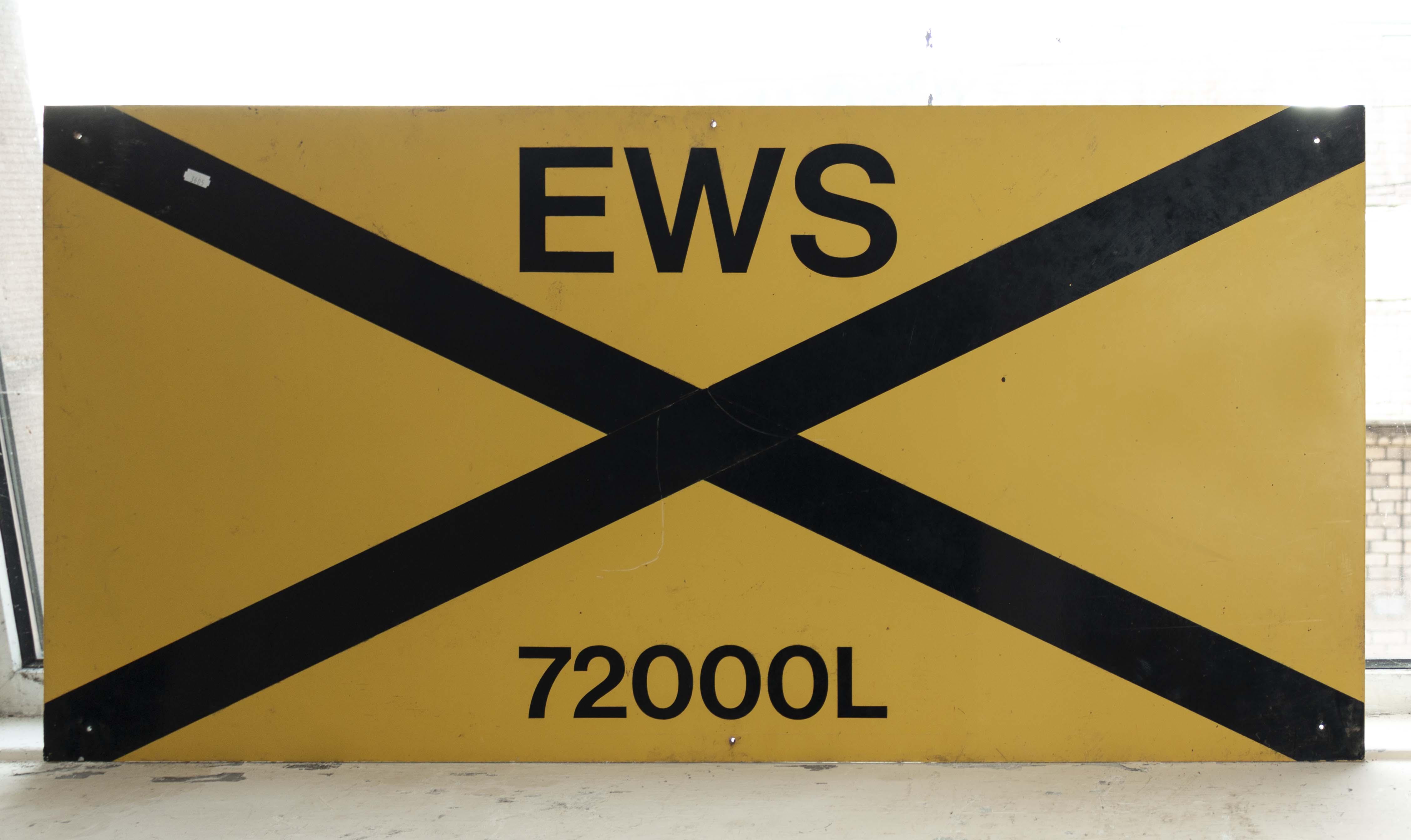 Lot 7 - An EWS railway sign