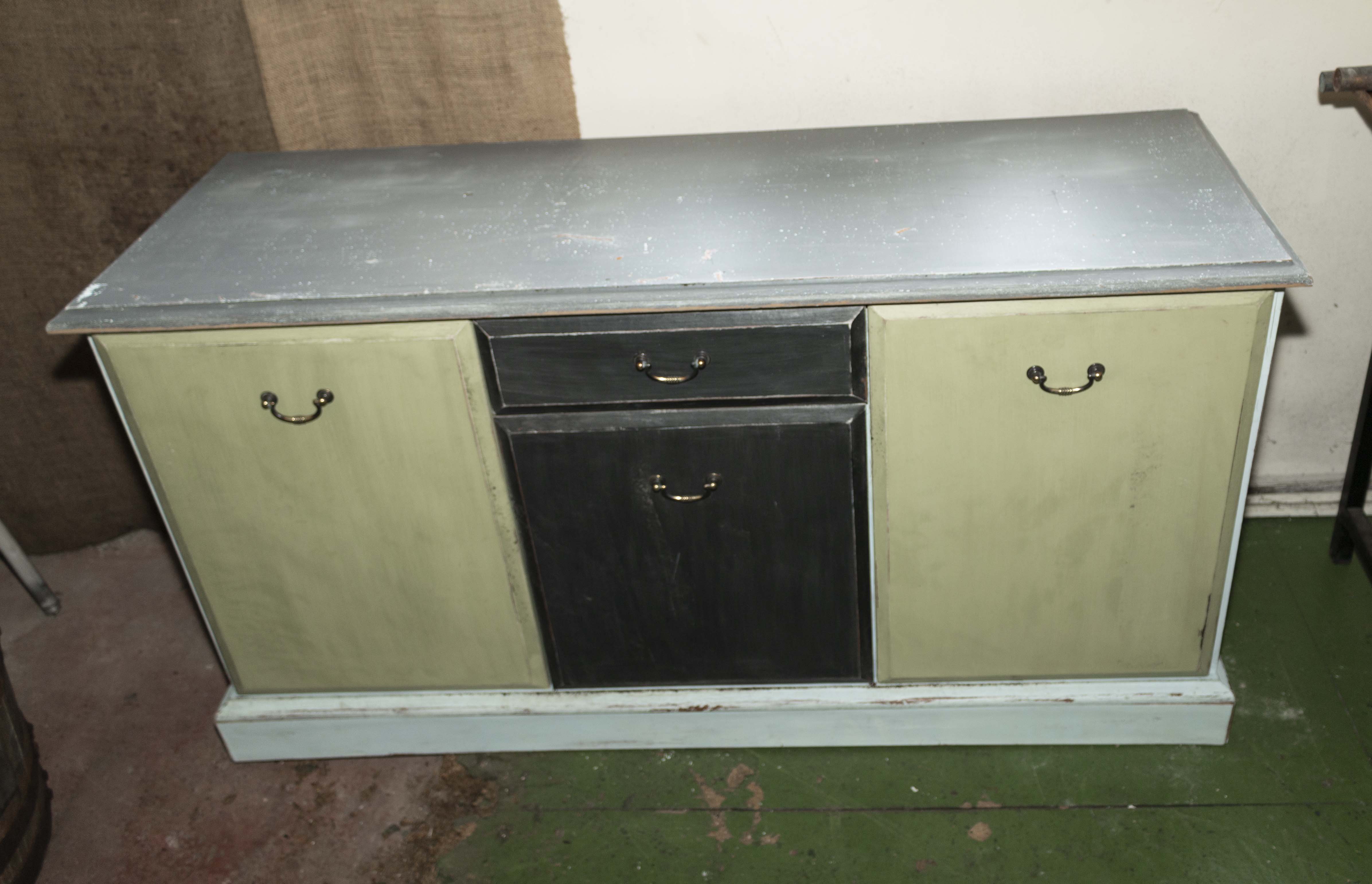 Lot 4 - A painted side cabinet