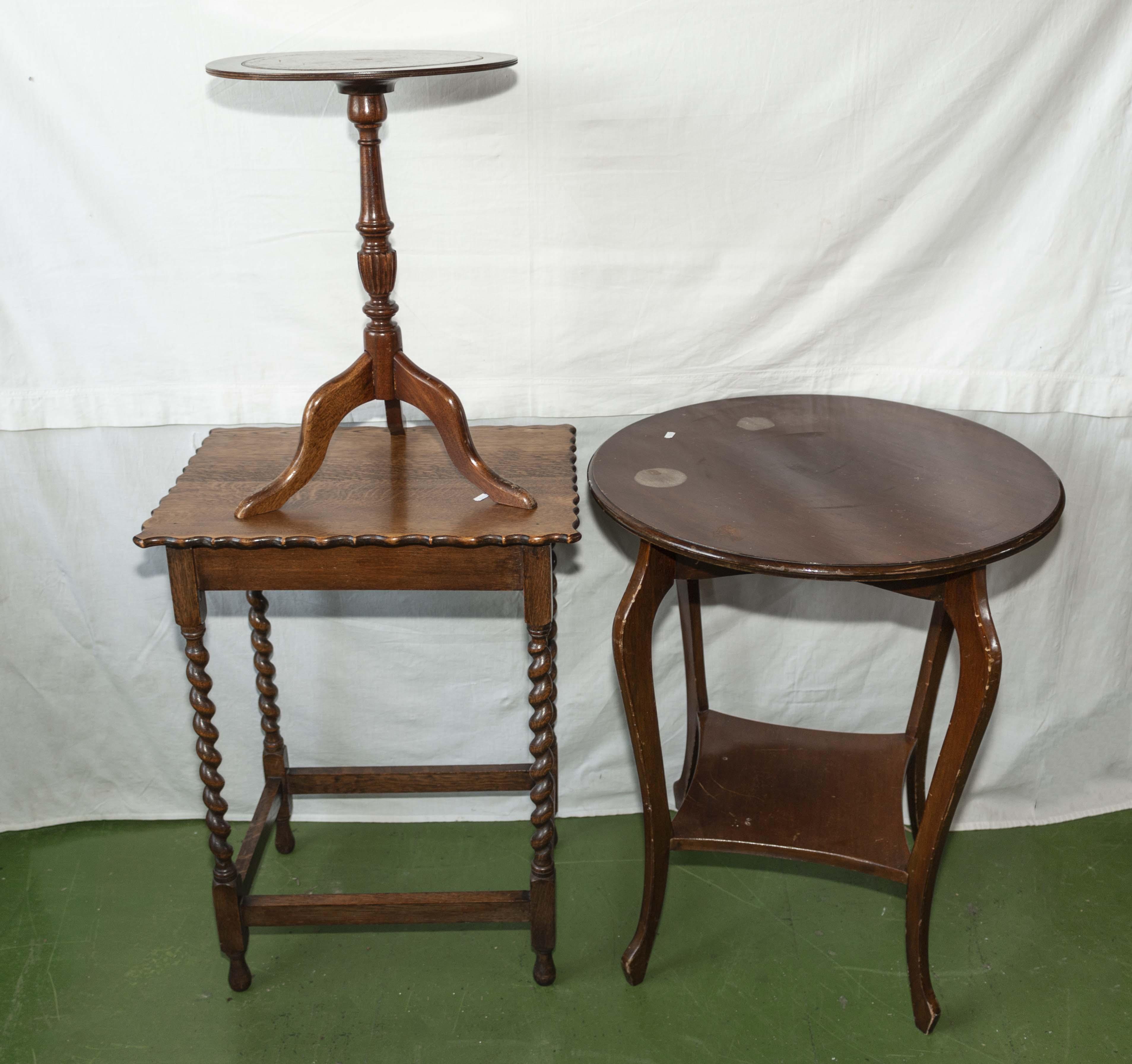 Lot 56 - Three tables