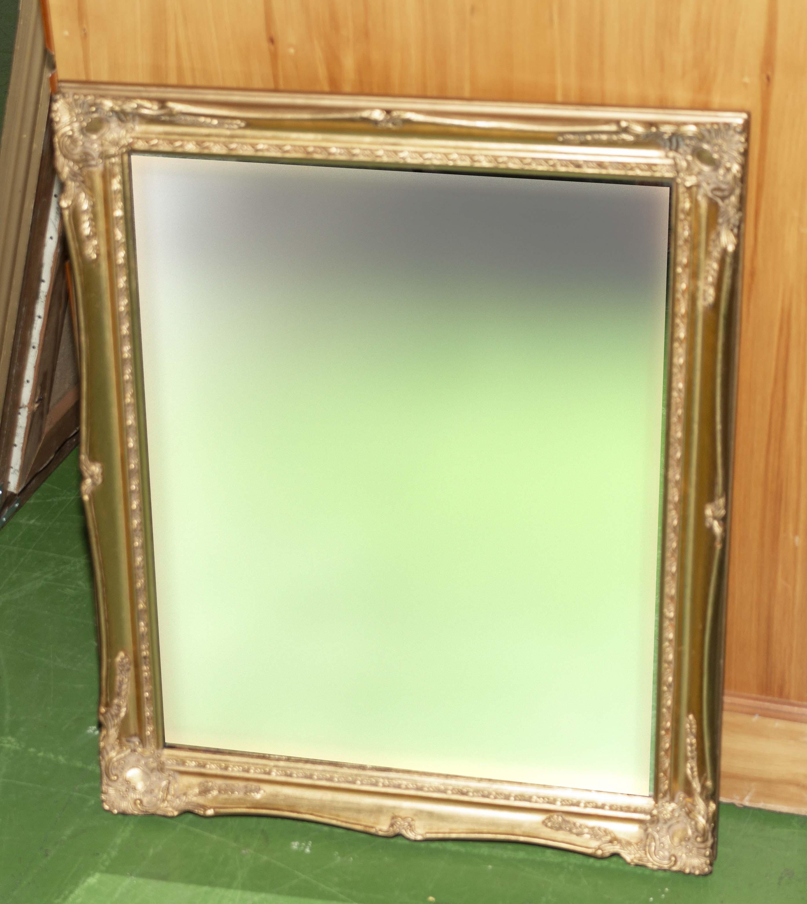 Lot 29 - A gilt framed wall mirror