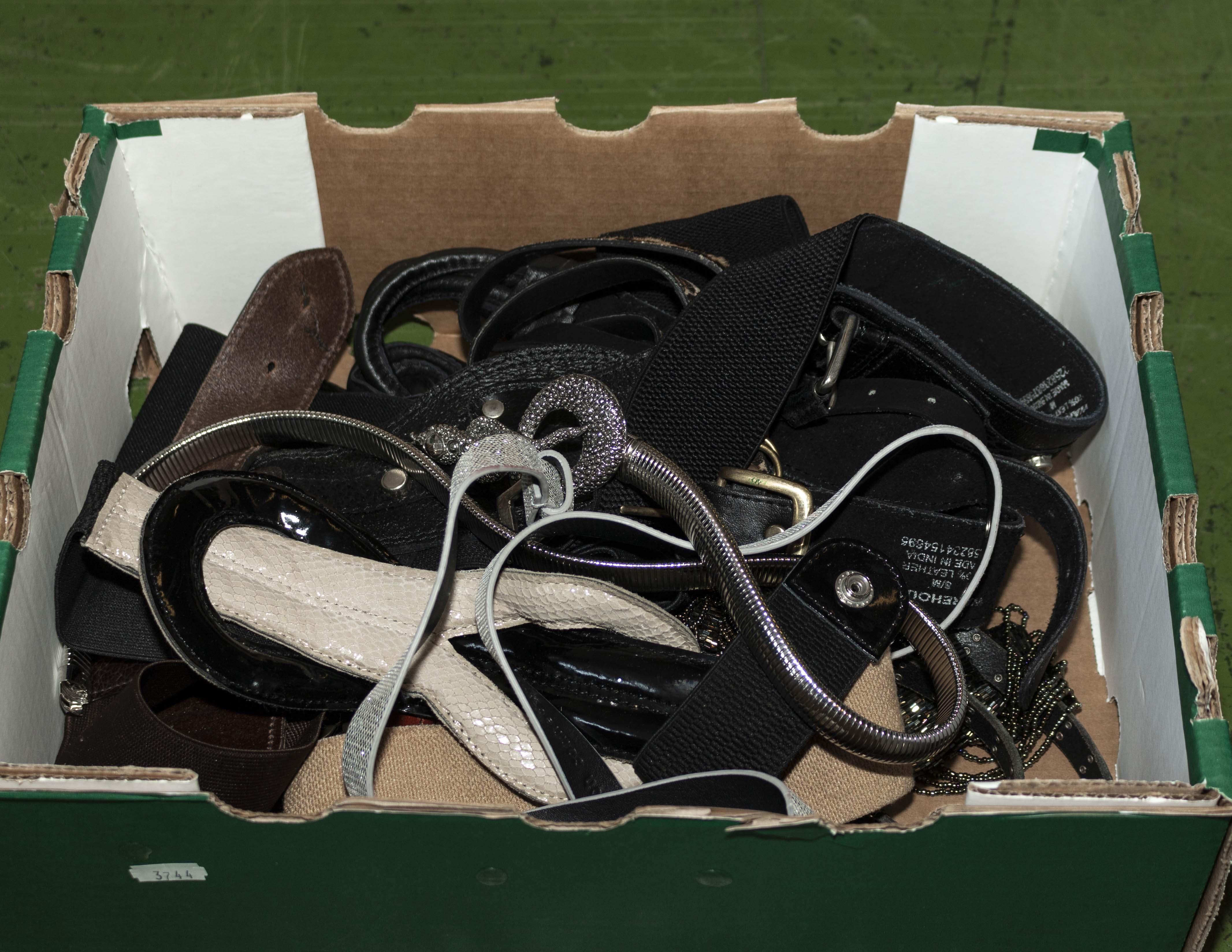 Lot 44 - A box of belts