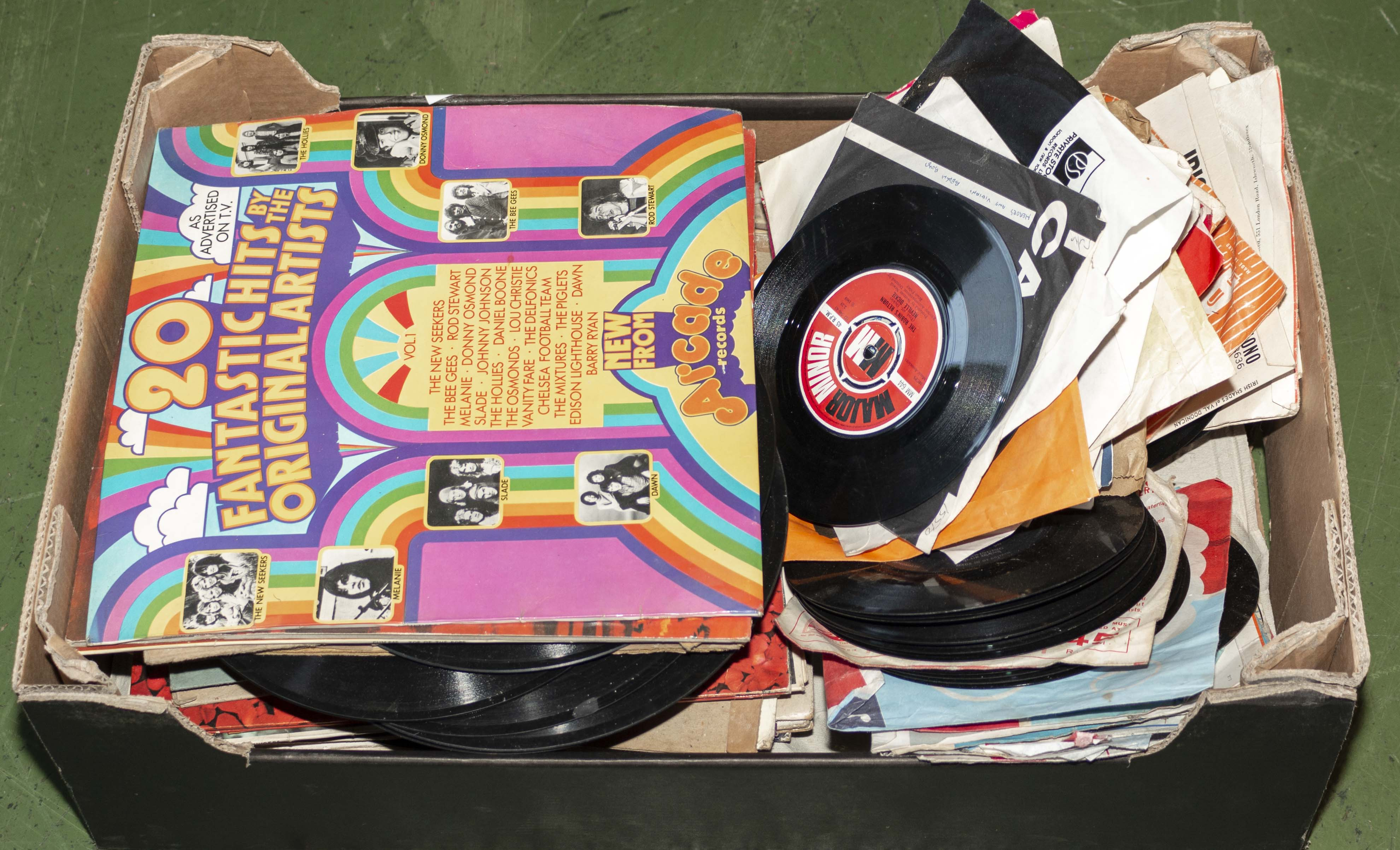Lot 49 - A box containing vinyl records