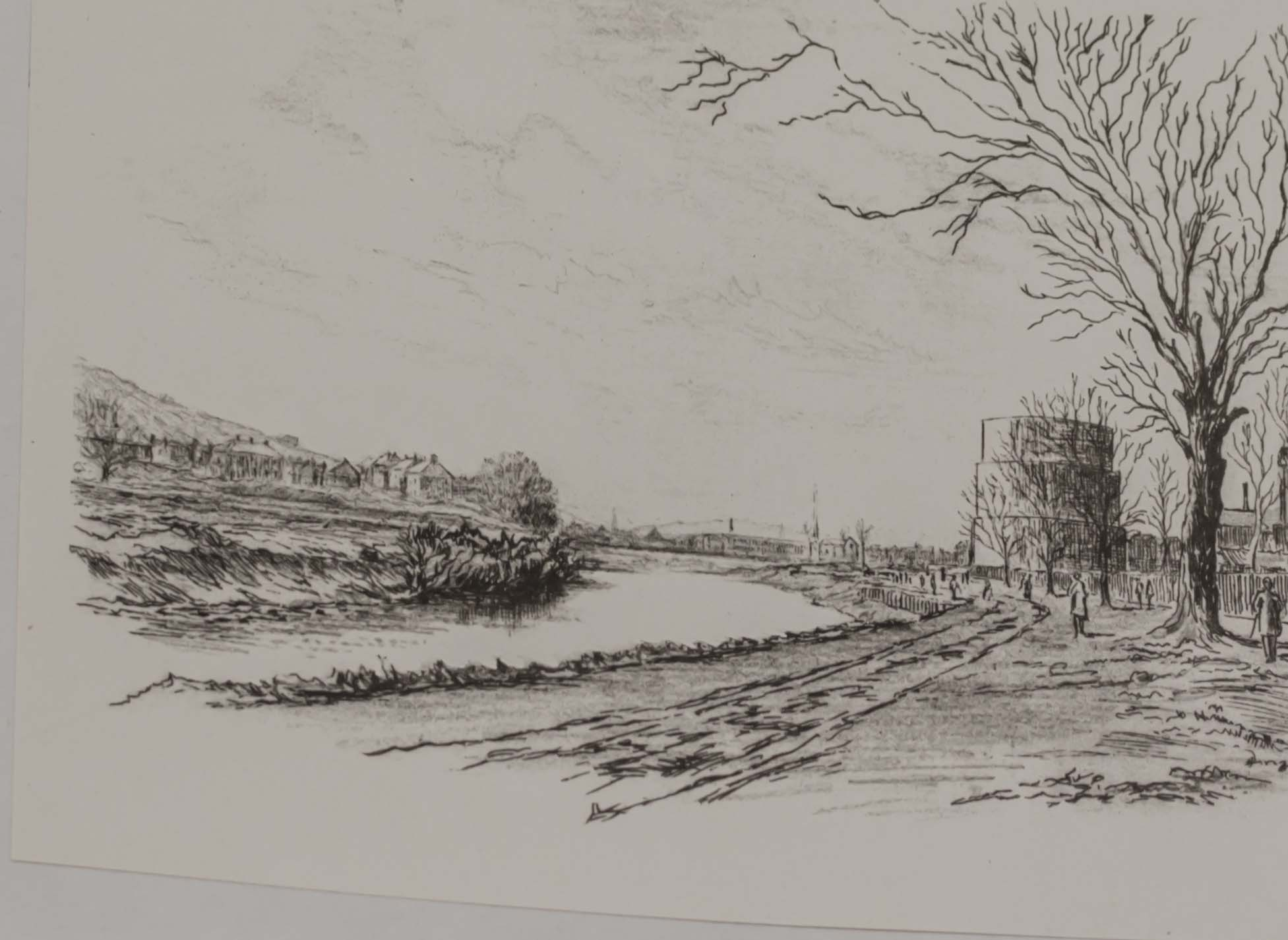 Lot 46 - A limited edition of 'Teviot Reaches' sketched and etched by R M Taylor, printed in 1951 #45/250.