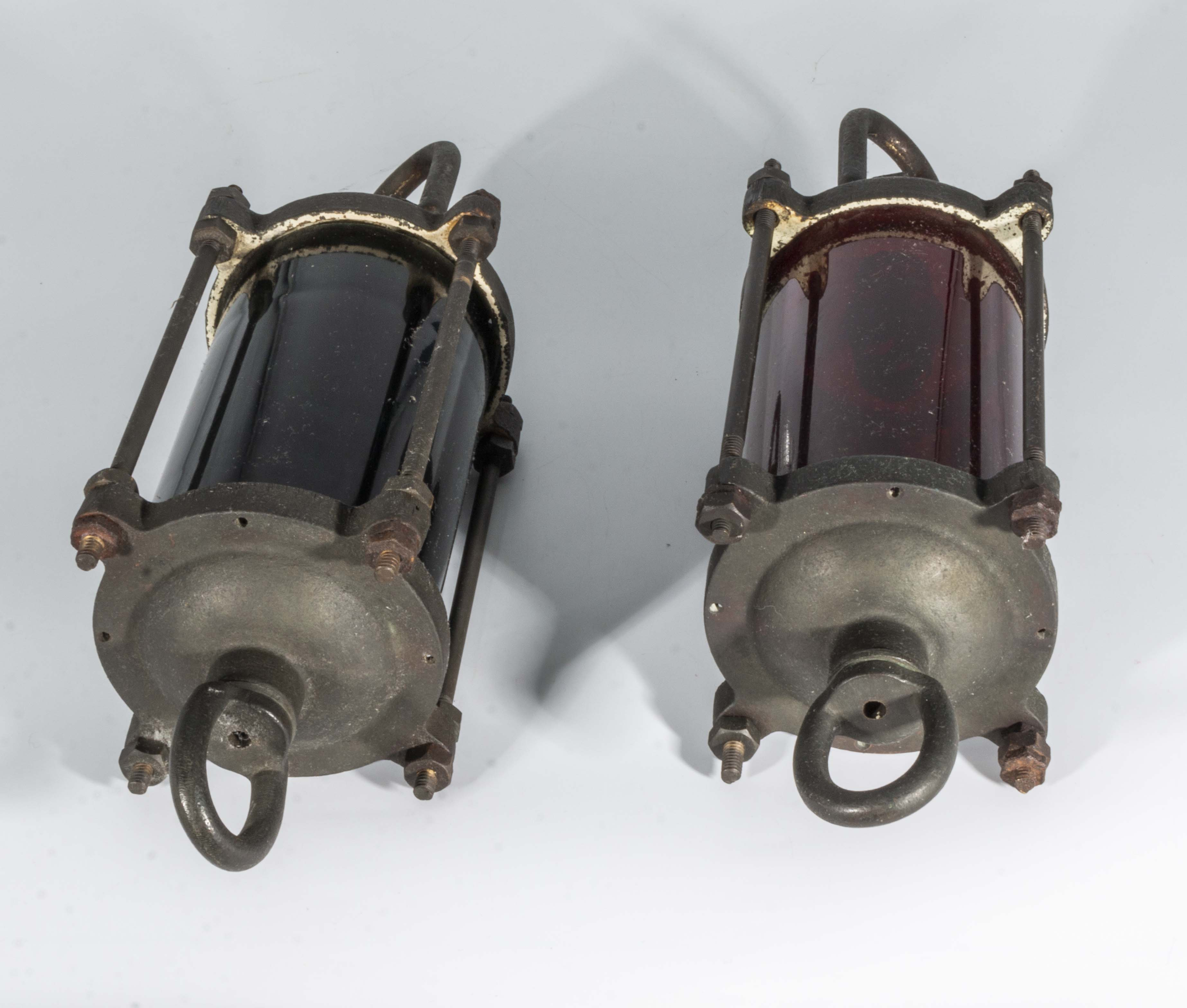 Lot 24 - A pair of ship's lanterns