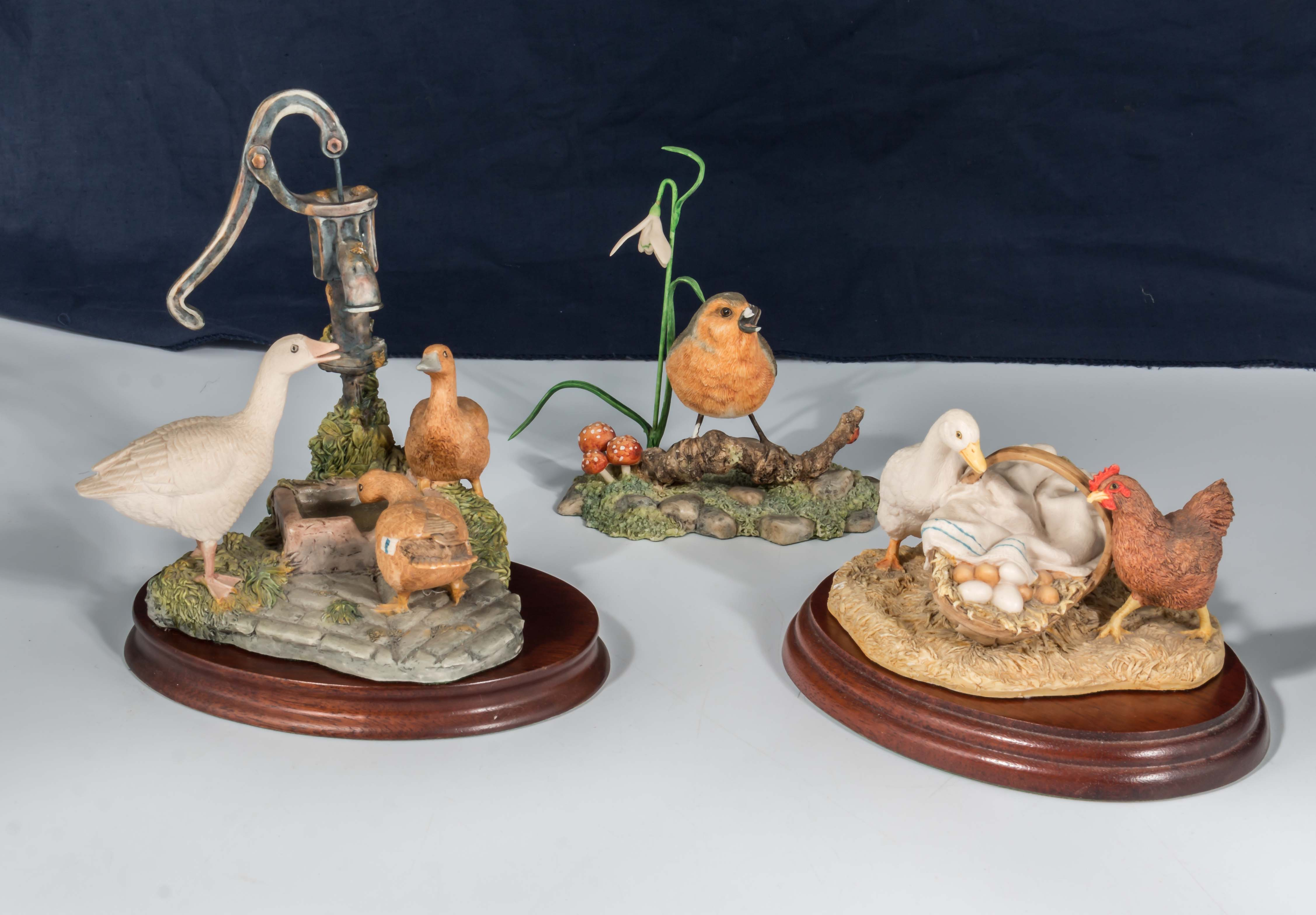 Lot 34 - A Border Fine Arts figure group 'Thirsty Work' and 'Yours or Mine' and one other