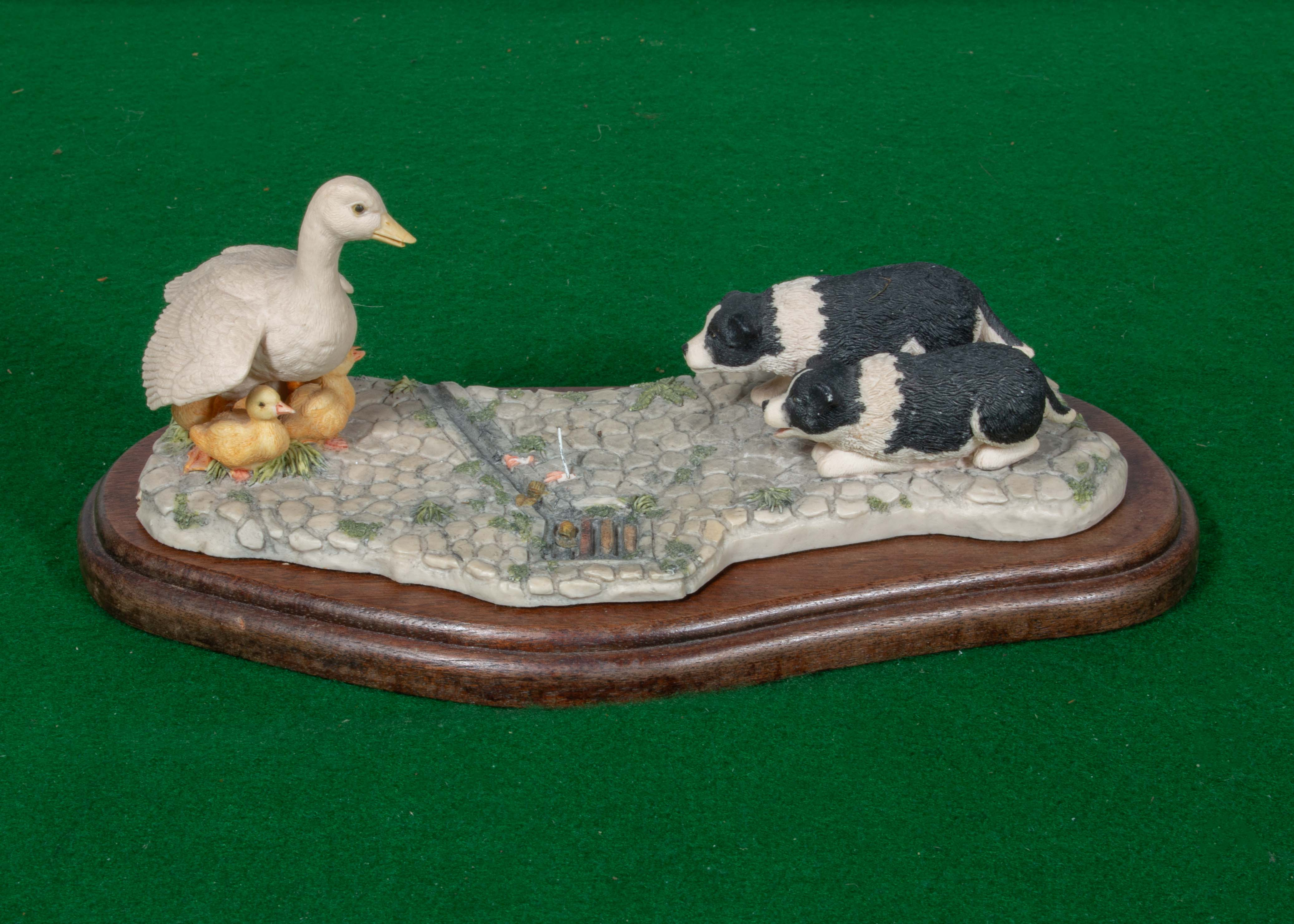 Lot 33 - A Border Fine Arts figure group 'First Lessons'