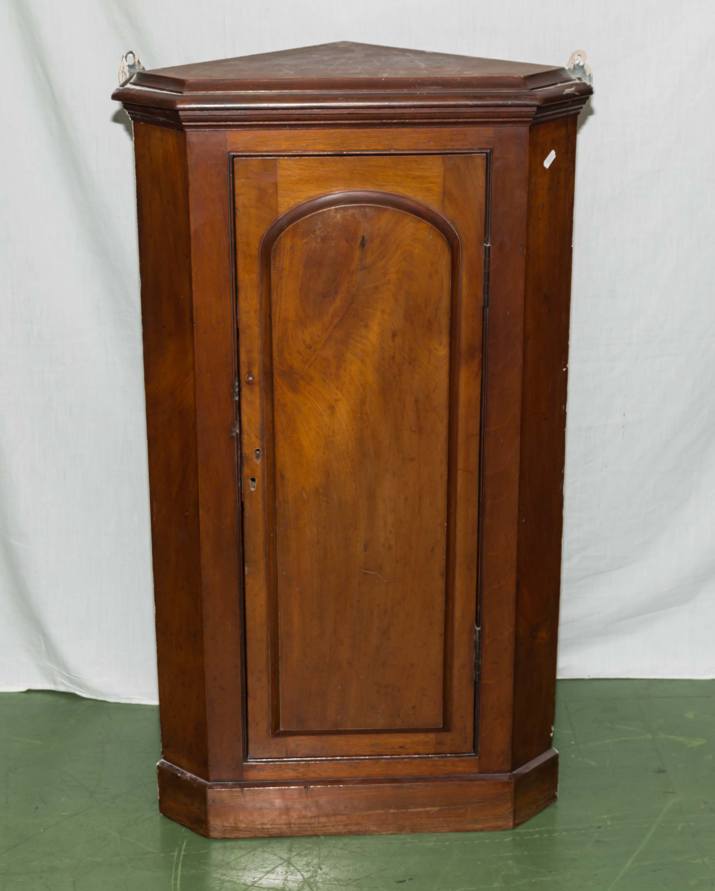 Lot 40 - A late Victorian mahogany corner cabinet