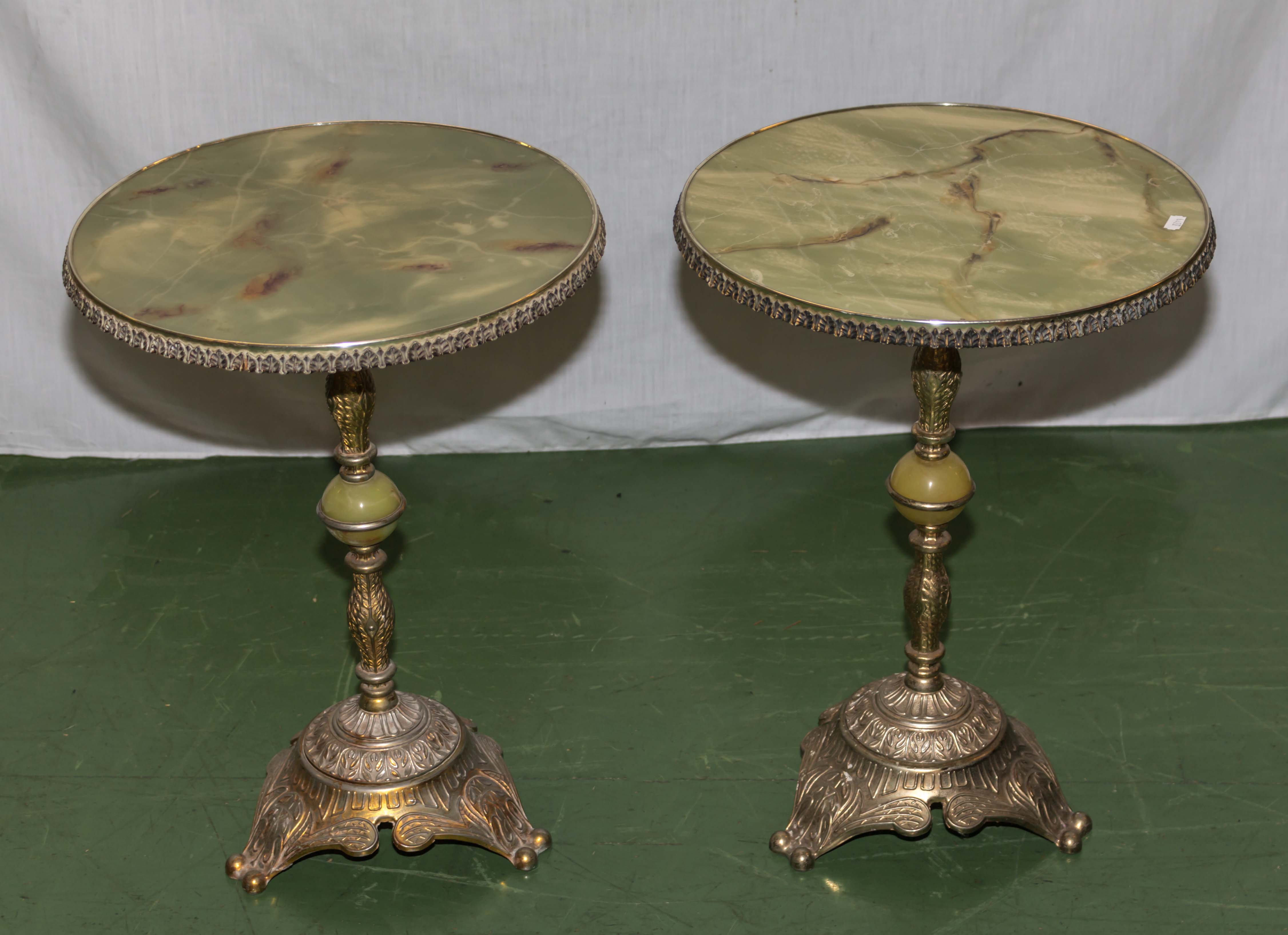 Lot 55 - A pair of reproduction side tables