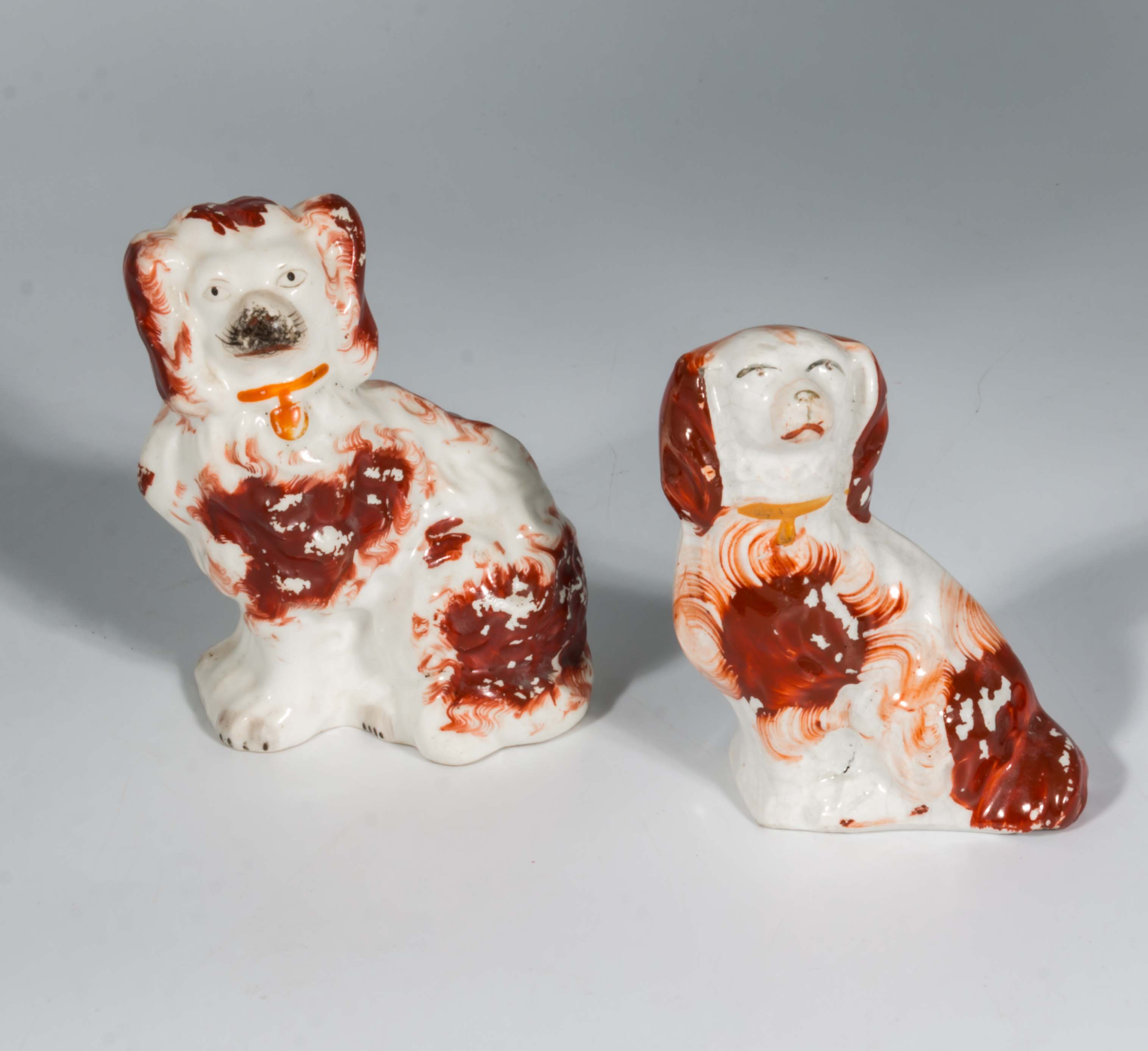 Lot 31 - Two miniature Wally dogs