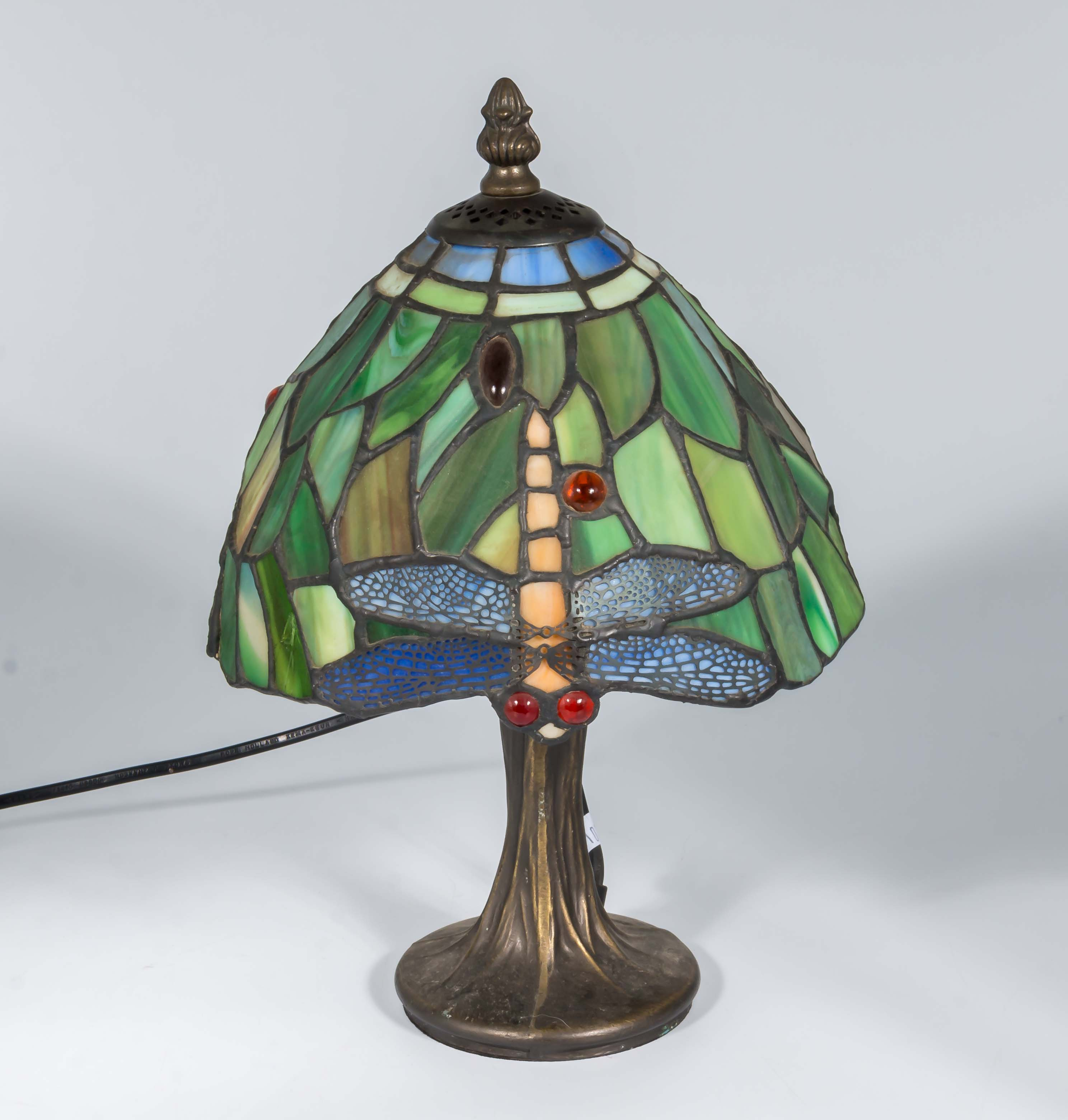 Lot 18 - A reproduction table lamp