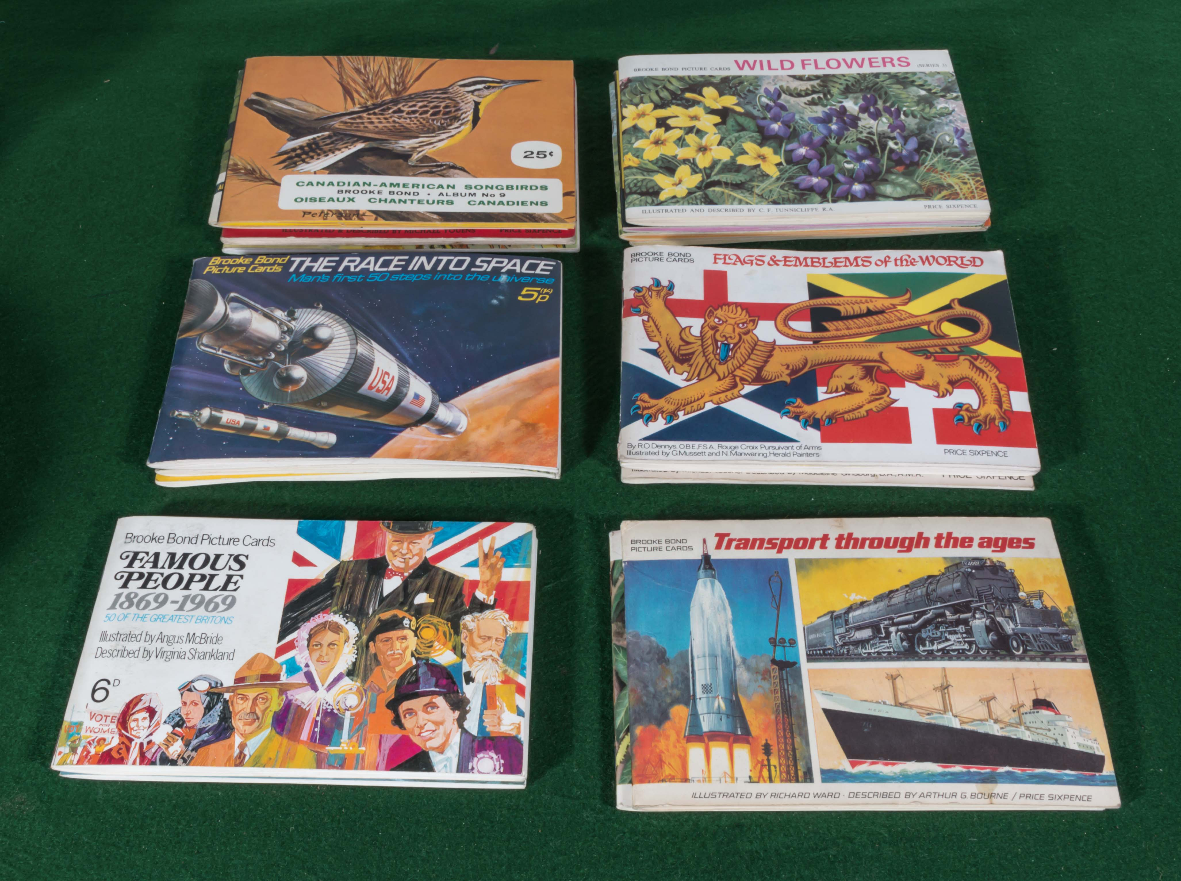 Lot 45A - A collection of 18 Brooke Bond picture card albums 17 are complete