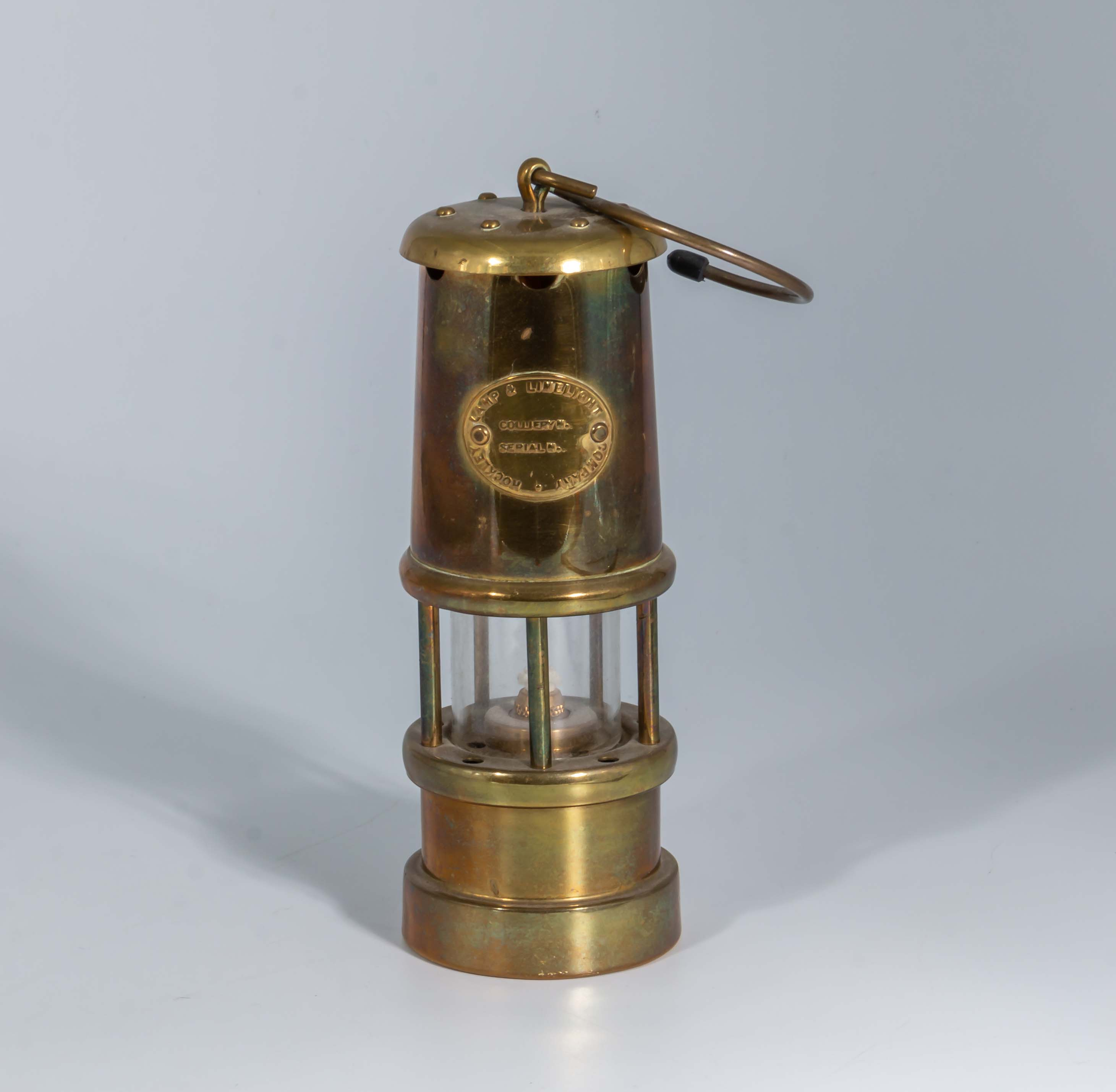 Lot 23 - A small Davy lamp