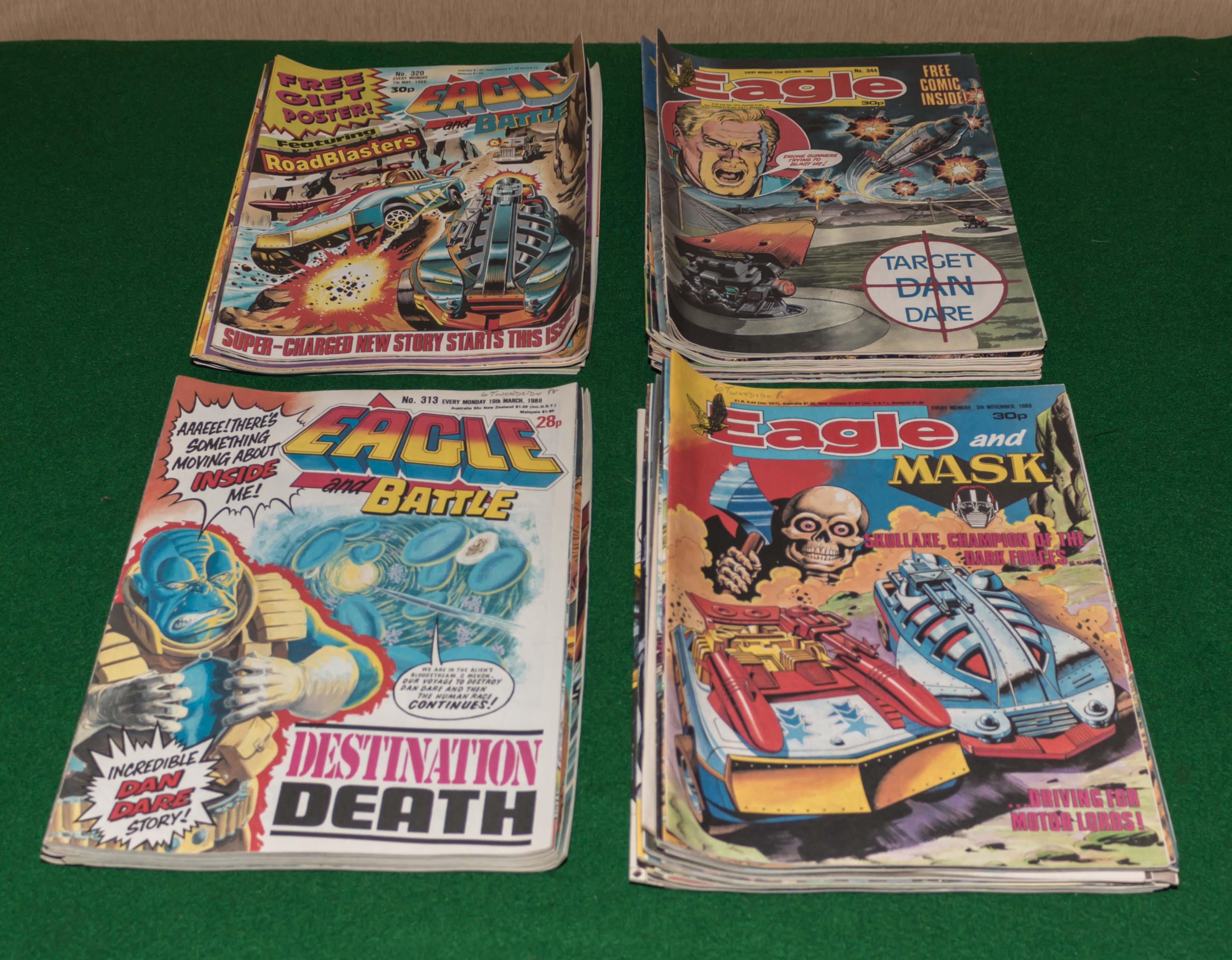 Lot 40 - A selection of Eagle comics 1987/88