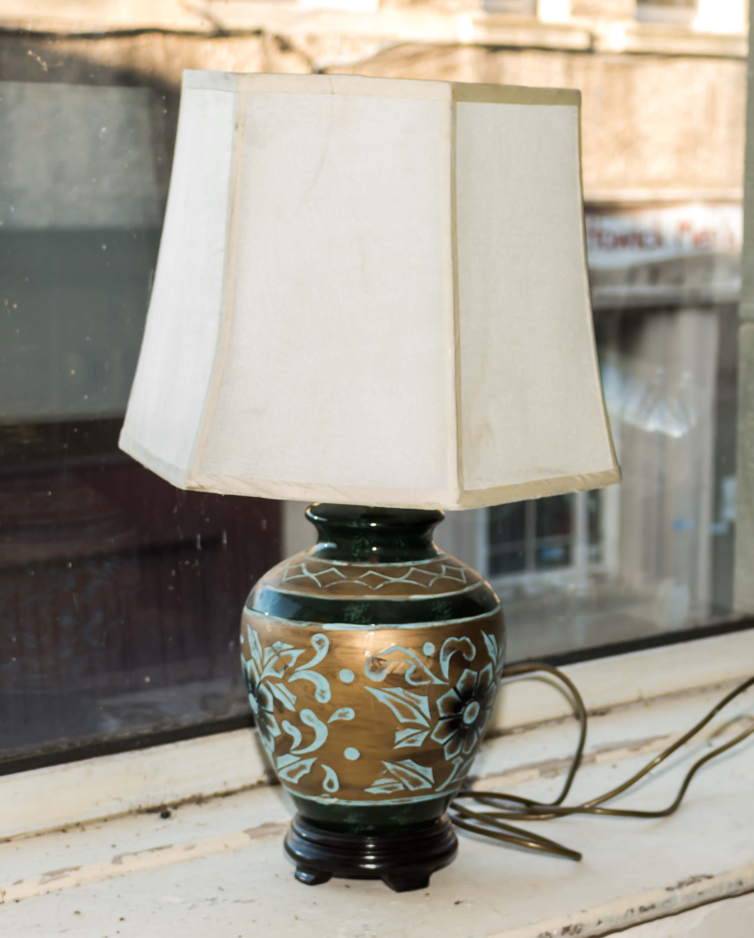 Lot 43 - A table lamp and shade