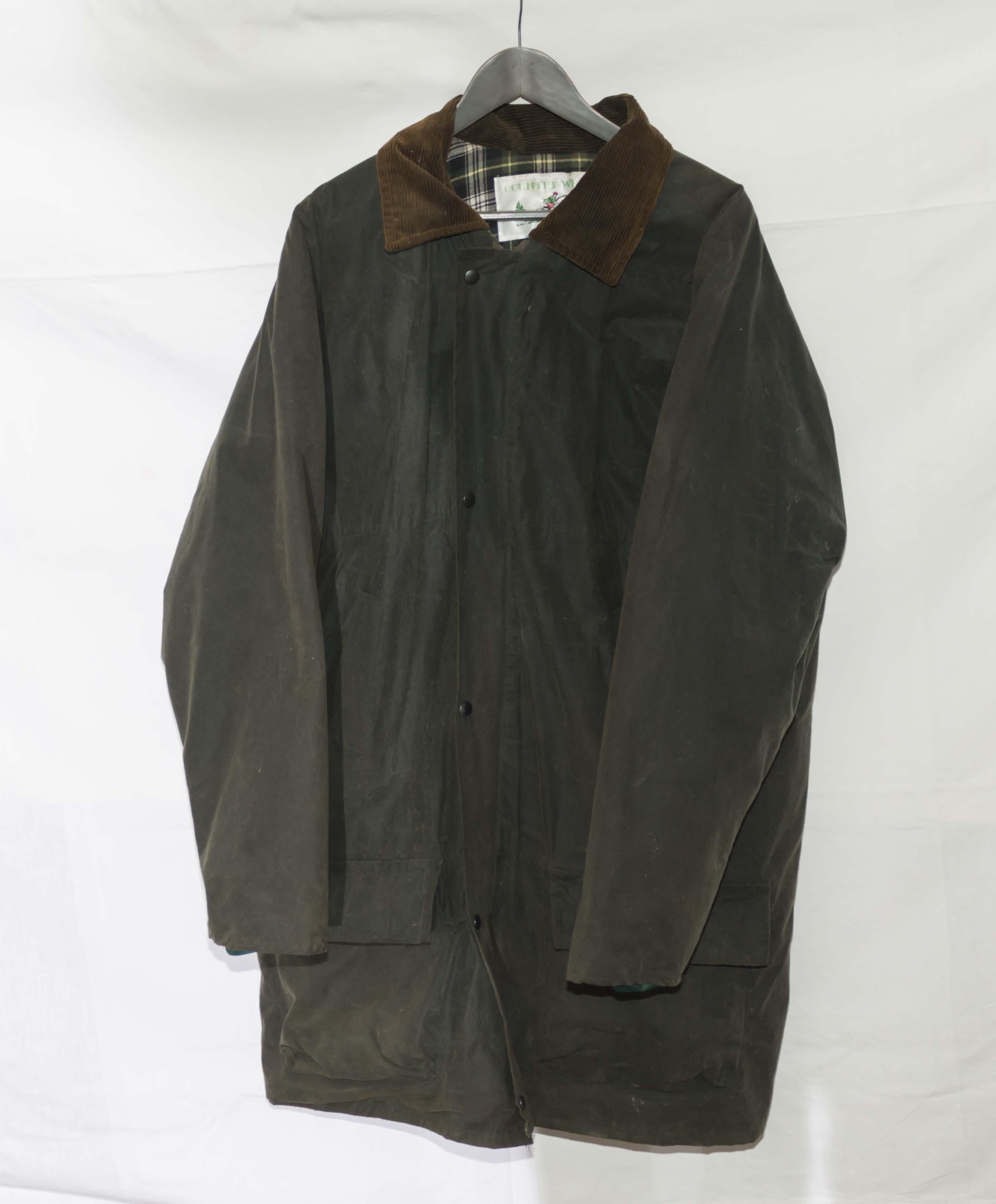 Lot 38 - A gent's wax jacket
