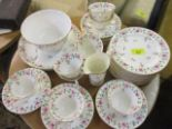 Lot 56 - A Royal Worcester part teaset to include two sandwich plates
