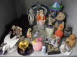 Lot 10 - Early to mid 20th century china figures, a modern music box in the form of a merry-go-round, mixed