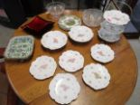 Lot 23 - A group of ceramics and glassware to include a 19th century Chinese Canton famille rose tureen base