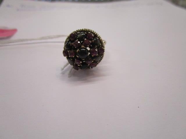 Lot 16 - A 14ct gold multi stone ring of cone form, total weight, 5.07g