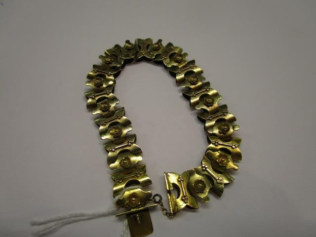 Lot 28 - A 14ct gold bracelet, possibly Victorian, total weight 14.65g