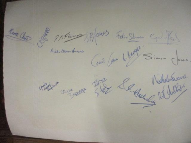 Lot 20 - An autographed Preston Grasshoppers RFC photo mount, together with a photograph of the team, a