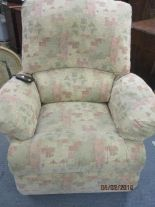 Lot 32 - A Sherborne electric recliner in an Aztec style upholstery (Norfolk standard)