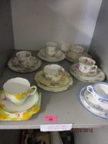 Lot 45 - Continental and English teacups and saucers